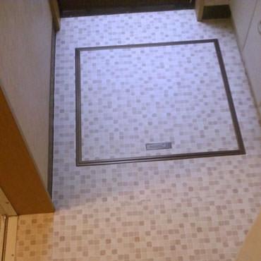 浴室のクッションフロアの張替