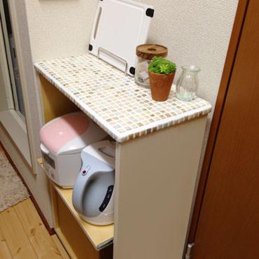 狭いキッチンでマルチに 使えるキッチンワゴン
