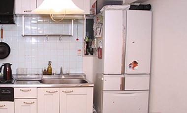 シンクの高さに合わせてシステムキッチン風に食器棚付き作業台を作ろう!