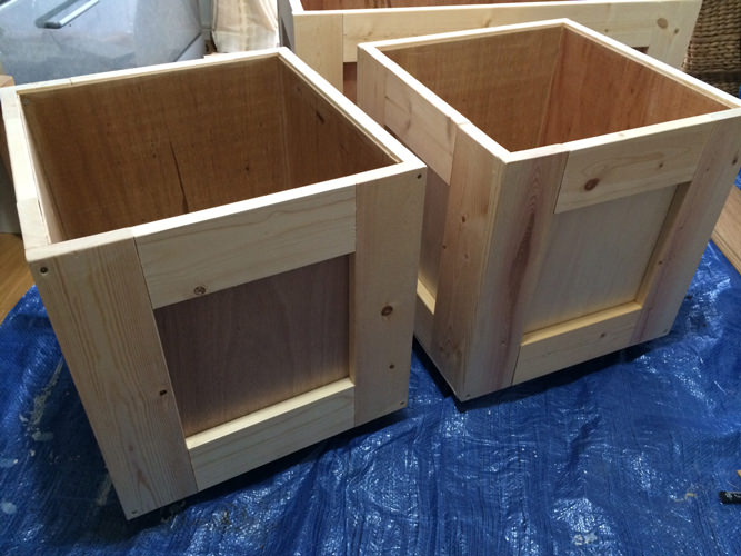 6. この様に正方形BOXを2つ制作。