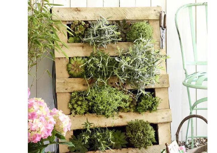 スノコや廃材で作る海外のナチュラルなお庭アイテム
