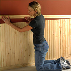 Allwood Wainscot Installation Third Step