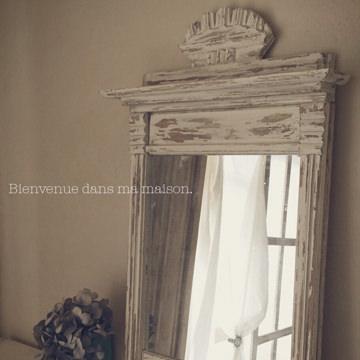 100均の鏡をフレンチなアンティーク風ミラーに