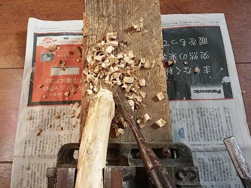2. 同じく木の削りだし!