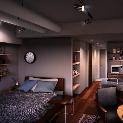 1人~2人暮らしサイズ。<br>こんな部屋もある