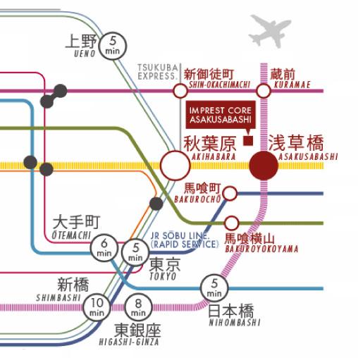 6駅使える都心の便利さと<br>下町の穏やかさの融合