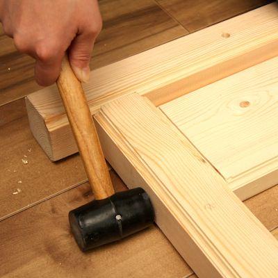STEP7 接合する木材を合わせて叩く