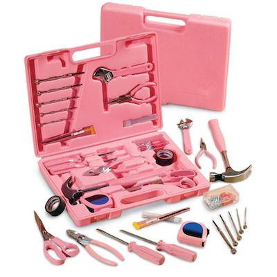 かわいいピンクの工具105種類の工具ツールセット
