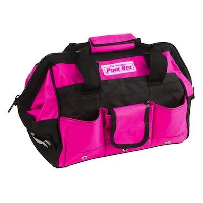 かわいいピンクの工具用バッグ
