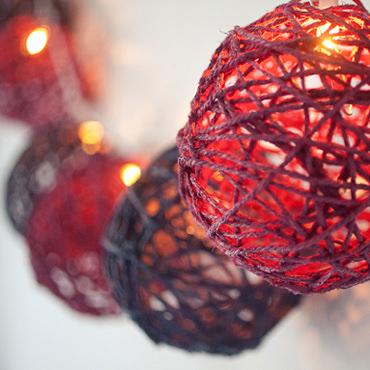 風船と毛糸で作るガーランド・ライト