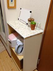 8. 側面を白く塗ったらできあがり〜〜〜 調理するスペースが増えて大満足です!