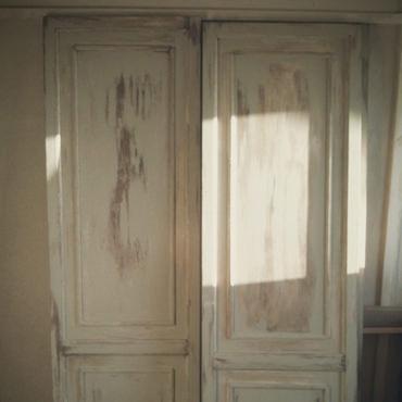 襖をアンティーク風ドアに