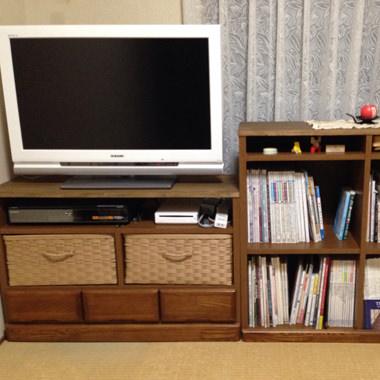 本棚をテレビ台にリメイク