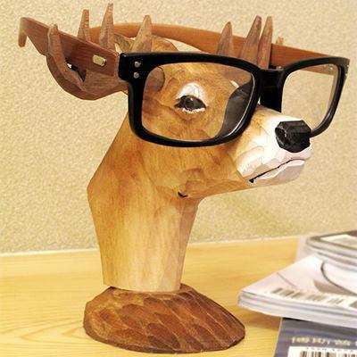 【Neustadt】シカの木製メガネスタンド