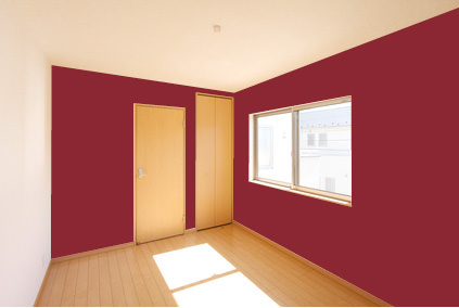 壁に赤を取り入れるなら<br>こんな色