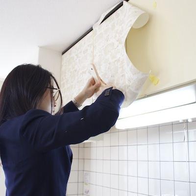 壁以外にも貼ってOK!<br>キッチン、下駄箱、クローゼットの中♪