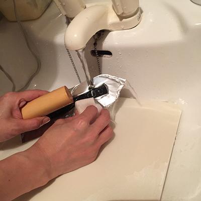 漆喰の後片付けの仕方